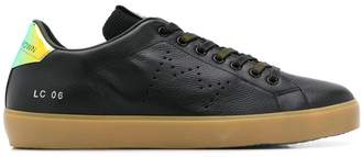 Leather Crown lace-up low-top sneakers