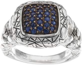 Croco Jai JAI Sterling Sapphire Pave Texture Ring