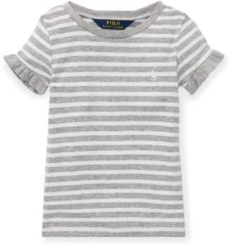 Ralph Lauren Kids Ruffled Cotton-Modal T-Shirt