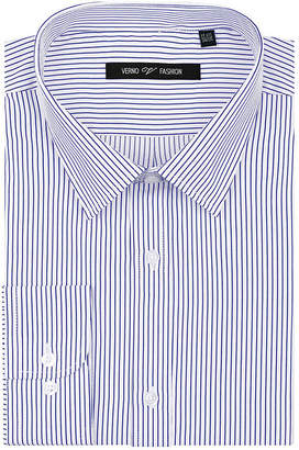 VERNO Verno Men's Classic Fit Dress Shirts with Stripes - Big & Tall