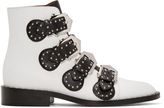 Givenchy White Studded Elegant Boots $1,395 thestylecure.com