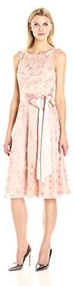 Jessica Howard Women's Fit & Flare Dress with Tie Sash