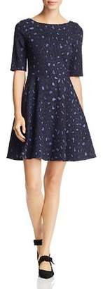 Kate Spade Leopard-Print Lace-Up Dress