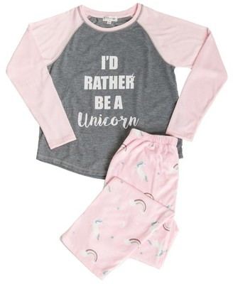PJ Salvage Kids Pajama Set One of a Kind Unicorn PINK Small Size 4