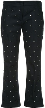 No.21 stud detailing flared trousers