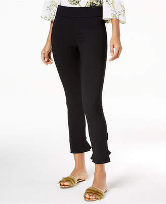 INC International Concepts I.n.c. Petite Ruffled-Hem Skinny Ankle Pants, Created for Macy's