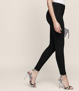 Reiss Tessa Ribbed-Detail Panel Leggings