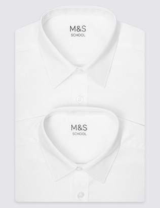 Marks and Spencer 2 Pack Boys' Plus Fit Non-Iron Shirts