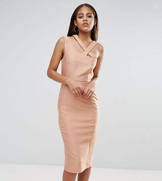ASOS Tall ASOS TALL Strap Back Clean Structured Pencil Dress