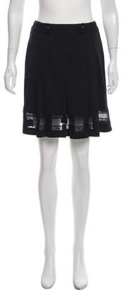 Anna Sui Lace-Accented Mini Skirt