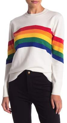 Romeo & Juliet Couture Rainbow Long Sleeve Knit Sweater