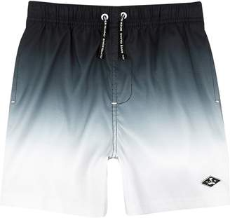 River Island Boys Black dip dye swim shorts