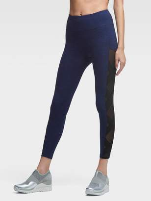 DKNY Cropped High-Waist Legging With Crisscross Panels