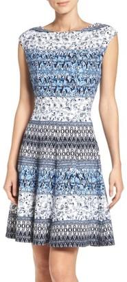 Women's Gabby Skye Scuba Fit & Flare Dress $98 thestylecure.com
