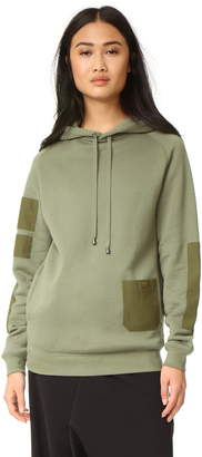 Helmut Lang Patch Pocket Hoodie $395 thestylecure.com
