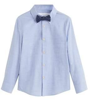 MANGO Bow tie cotton shirt