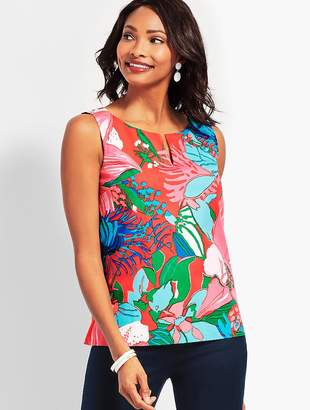 Talbots Tropical Floral Shell
