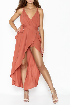Cotton Candy LA Wrap Maxi Romper $62 thestylecure.com