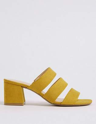 Marks and Spencer Block Heel Multi Strap Mule Sandals