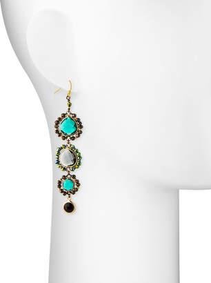 Nakamol Graduated Crystal Drop Earrings