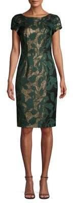 Adrianna Papell Metallic Sheath Dress