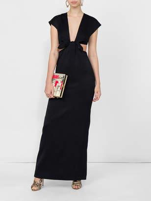 Proenza Schouler Deep v-neck bow dress