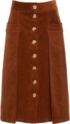 Dodo Bar Or Guiditta Cotton-Corduroy Midi Skirt Size: 44