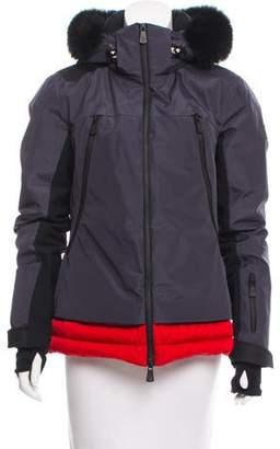 Moncler Meillerie Fur-Trimmed Coat