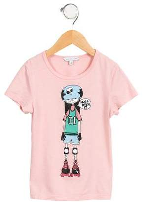 Little Marc Jacobs Girls' Graphic Short Sleeve Top