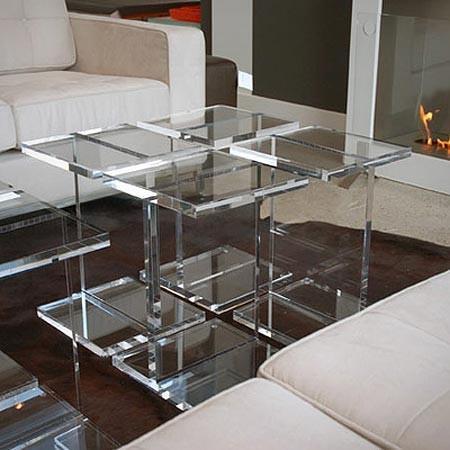 Gus Design - acrylic i-beam table