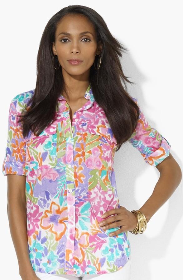 Lauren Ralph Lauren Roll Sleeve Work Shirt