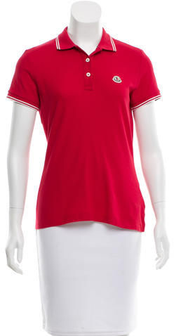 MonclerMoncler Short Sleeve Button-Up Top