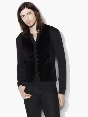 John Varvatos Velvet Button Front Vest