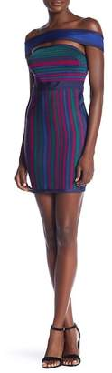 Wow Couture Striped Choker Dress