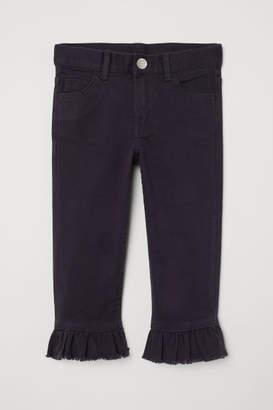 H&M Capri Pants with Ruffles - Blue