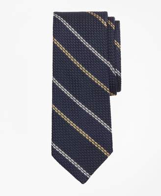 Brooks Brothers Textured Wide Framed Stripe Tie