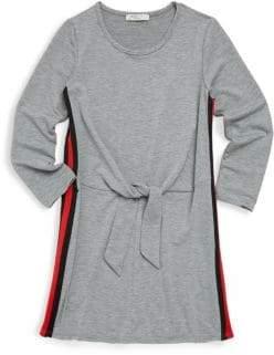 Pinc Premium Girl's Tie Waist Long-Sleeve Dress