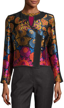 Etro Floral Brocade Fencing Jacket, Black $2,170 thestylecure.com