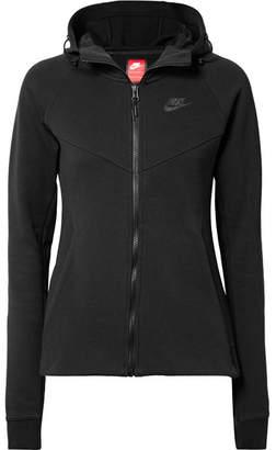 Nike Tech Fleece Cotton-blend Jersey Hoodie - Black
