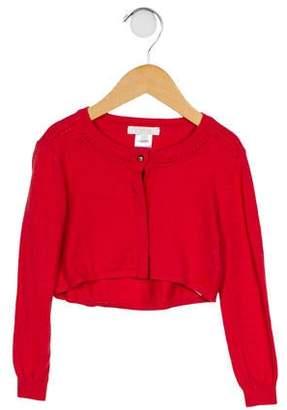 Chloé Girls' Long Sleeve Knit Cardigan