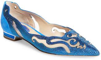 Rene Caovilla Women's Embellished Low Heel Pump