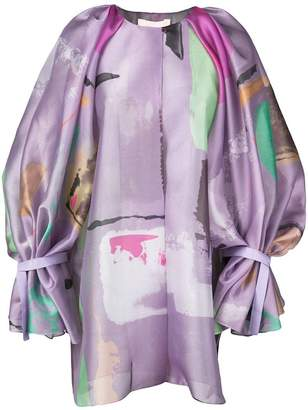 Roksanda tie balloon-sleeve printed jacket