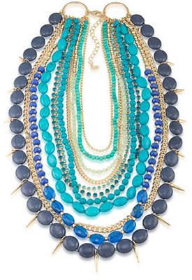 ABS by Allen Schwartz Castaway Multi-Row Spike Drop Necklace