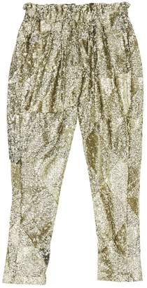 Laurence Dolige Gold Synthetic Trousers