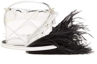 Marques Almeida MARQUES'ALMEIDA Feather-embellished quilted cross-body bag