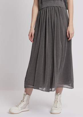 Emporio Armani Long Skirt In Plain Knit Lurex