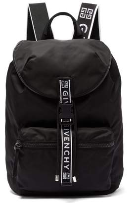 Givenchy Light 3 Leather Trimmed Nylon Backpack - Mens - Black White