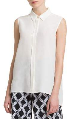 Donna Karan Silk Crepe Blouse