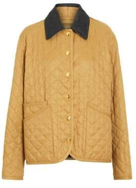 Burberry Women's Dranefeld Quilted Jacket - Camel - Size XL