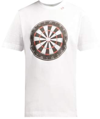 Hillier Bartley - Dartboard Print Cotton T Shirt - Womens - White Multi